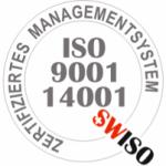 ISO 9001 und 14001 Zertifikat